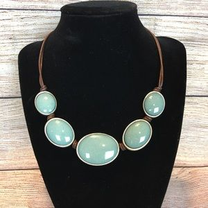 Jewelry - Beautiful, simple, stone and leather neckl…
